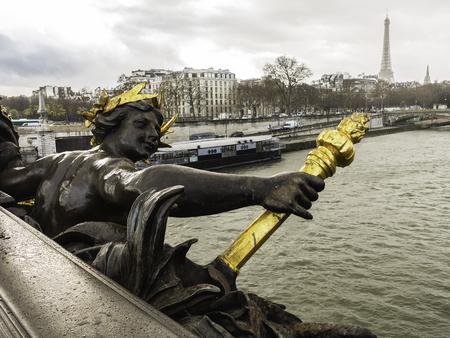 grandiose: Alexandre III bridge, Paris, France