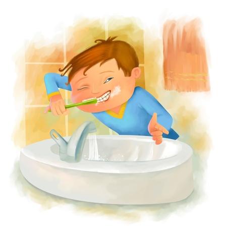 hair wash: dental care