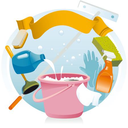 jabon liquido: Limpieza general Vectores