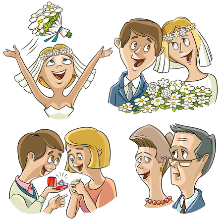 father of the bride: A man traditionally offers an engagement ring along with his love when asking a woman to marry him.