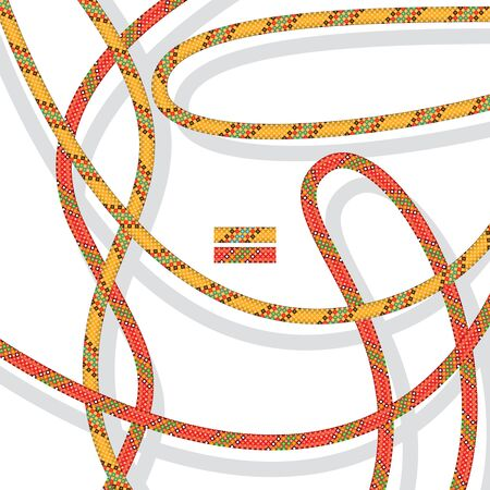 cords: The pattern of the colored cords. You can create your own brush for painting. Illustration