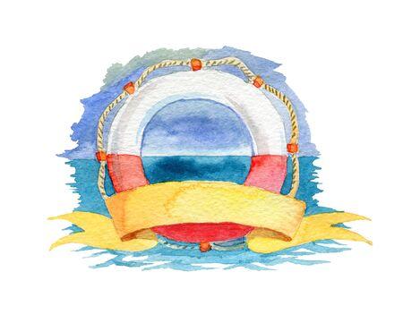 Lifeline with the background and ribbon 版權商用圖片