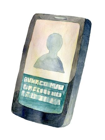Watercolor icon smartphone