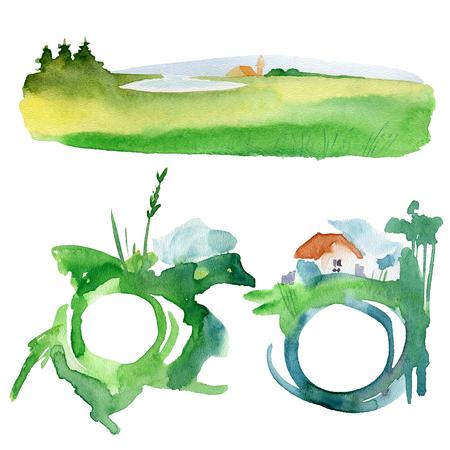 Watercolor splash texts 版權商用圖片