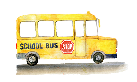 School bus on the side