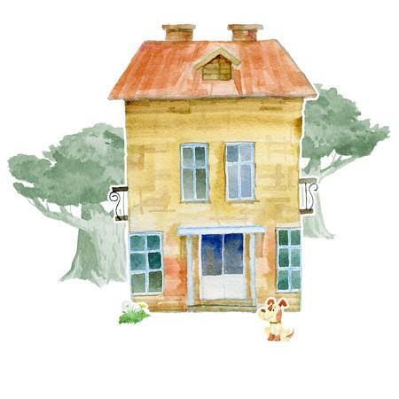 Two-storey country house, 版權商用圖片