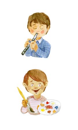 Children artist and musician