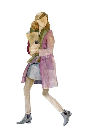 Girl in warm clothes 版權商用圖片