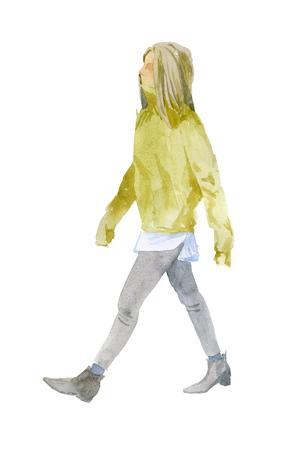 Girl in warm clothes 版權商用圖片 - 117705918