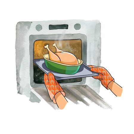 Cooking chicken in the oven at home