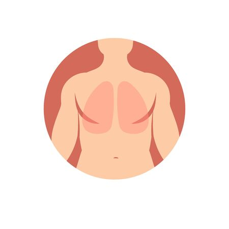 Icon to indicate the area of the human organ-lungs web elements Stock Vector - 131438571