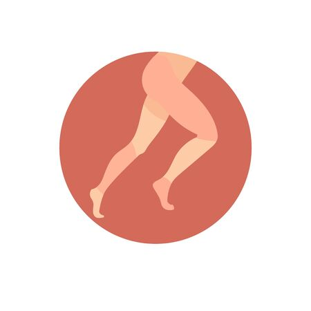 Icon with marked painful areas on the legs