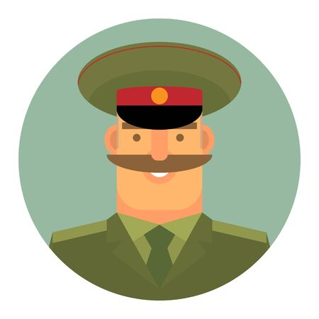 Vector icon, Professional activity. Soldiers of the Russian land forces