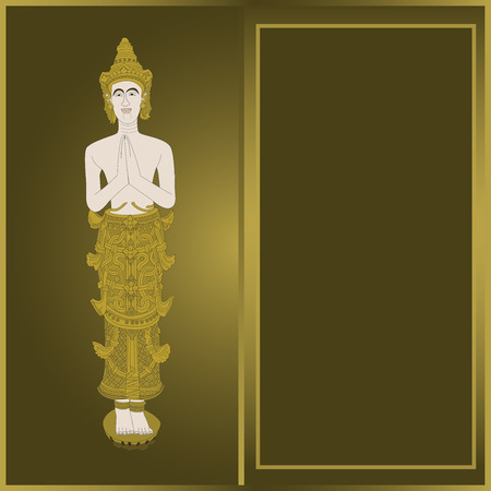 thai dance: Thailand pattern art Illustration