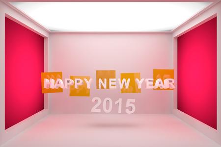 Happy New Year 2015 3D photo