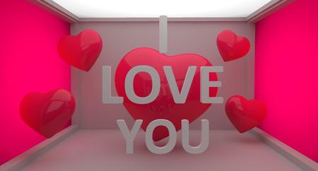 recibo: Te Amo Texto 3d