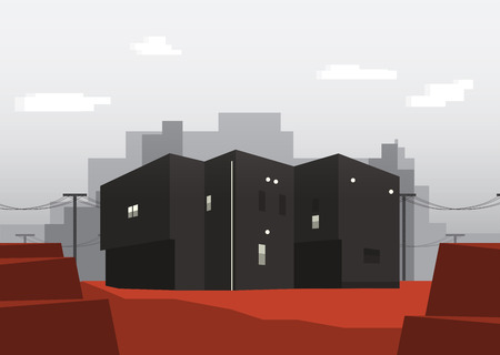 illustion: Office Building Cube