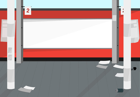 pedestrian walkway: Copy space Sidewalk Illustration