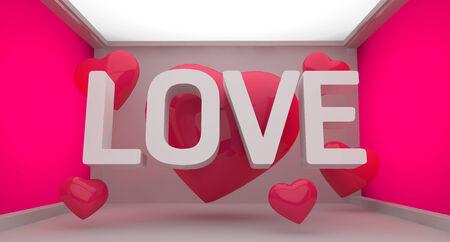 beatification: Love Pink Background Stock Photo