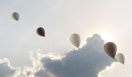 balloon sky Stock Photo