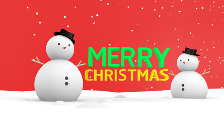 vdo: Merry Christmas Snowing