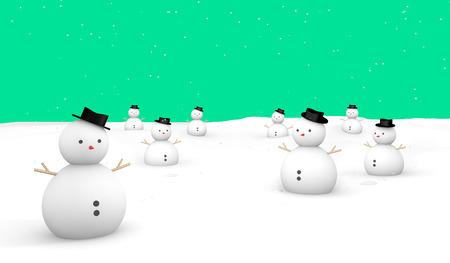 mov: Merry Christmas Snowman ground