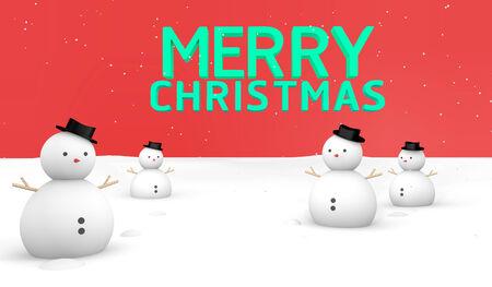 mov: Merry Christmas Snow ground