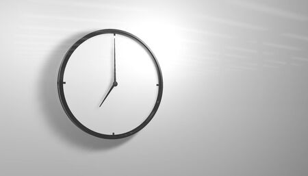 Black and White Clock photo