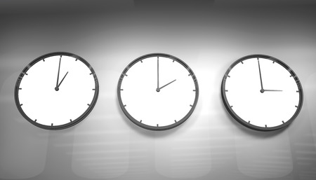 pm: Clock on the wall Stock Photo