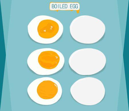 fas: boiled eggs sliced in halves