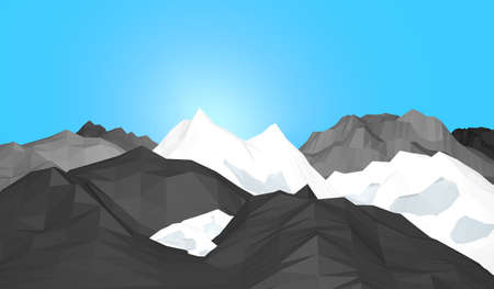 ice mountain: Ice mountain with blue background