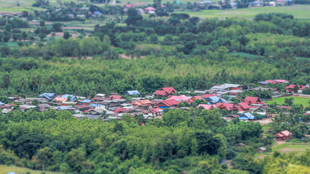 tilt: Tilt Shift Countryside Stock Photo