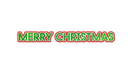 bokeh message: merry christmas text with white isolate background Stock Photo