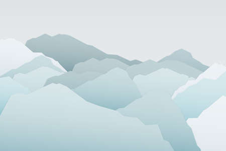 Ice mountain winter season background