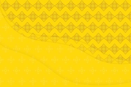 コピー スペースを持つタイのグラフィック文化芸術金背景 写真素材
