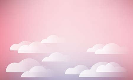 bright: sky and clouds in pink color background