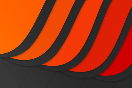 orange color tone shading curve presentation background with copy space Stock Photo