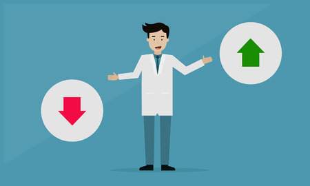 Doctor Good or Bad Healthcare, Info graphic concept Illustration
