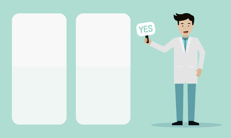 Doctor advice about health care info graphic flat design.