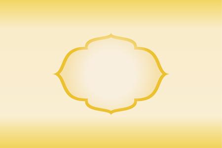 Frame gold golden bright yellow gradient background