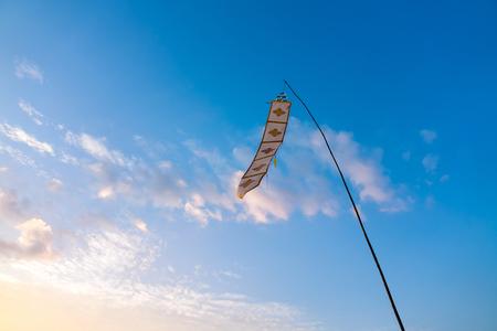 Lanna Chiang Mai Thailand Flag Flow on blue sky background Stok Fotoğraf