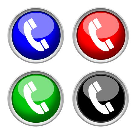 phone icon , isolated on white background  Stock Photo
