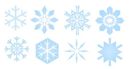 snowflakes collection  Stock Photo