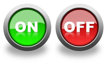 off button: on and off button & icon