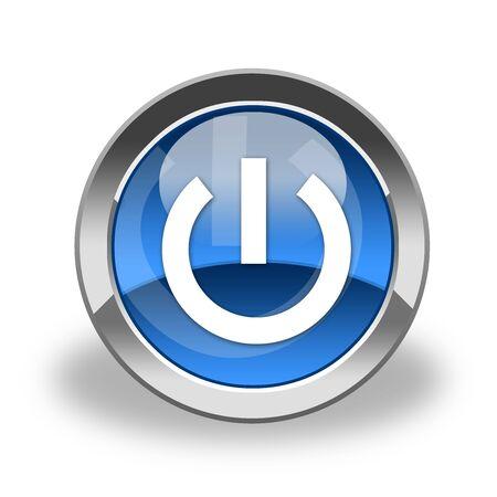 zasilania: przycisk zasilania, ikona Zdjęcie Seryjne