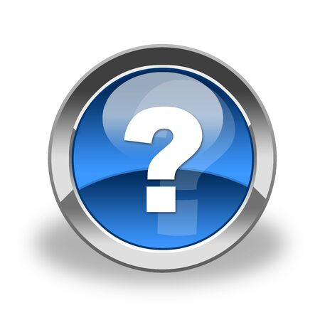 question mark icon , button Stock Photo