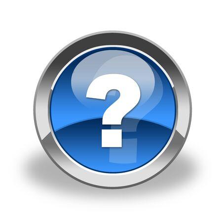 enquiry: question mark icon , button Stock Photo