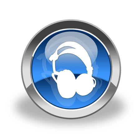 headphones icon & button