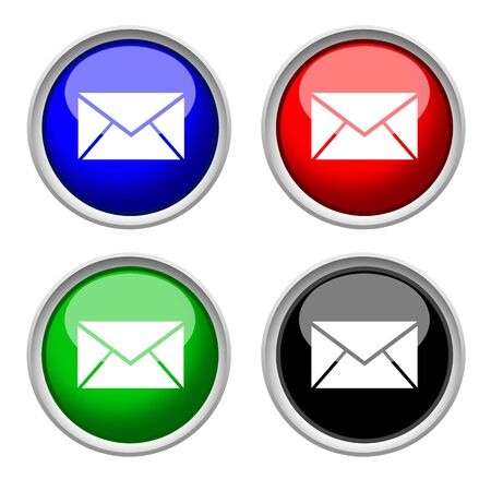 e-mail colored and glass icon
