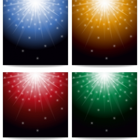Lights and stars background Stock Vector - 18134221